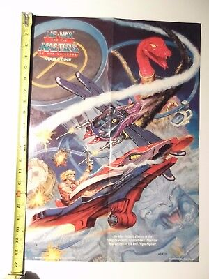$22 • Buy Vintage Masters Of The Universe Poster He-man Eternia Fright Fighter, Earl Norem