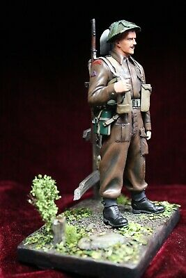 Painted Figure Of WW2 Tommy From Normandy Invasion 120 Mm Resin • 85£