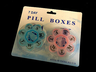 AU9.99 • Buy 2 X Flower 7- Day Plastic Pill Box Weekly Medication Organizer Container NEW