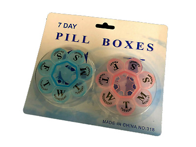 AU9.99 • Buy 2x Flower 7- Day Plastic Pill Box Weekly Medication Organizer Container NEW