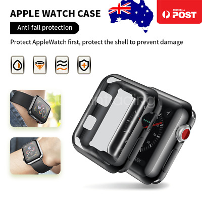 AU5.99 • Buy Full Cover IWatch Bumper Case Cover For Apple Watch Series 5 4 3 2 38 40 42 44mm