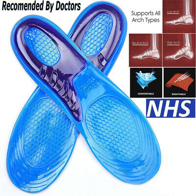 £3.59 • Buy Work Boots Gel Insoles Shoe Inserts Orthotic Arch Support Pads Massaging Feet