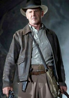Indiana Jones Harrison Ford Cow Hide Real Leather Jacket • 72.49£