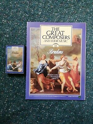 The Great Composers And Their Music - No 14 Brahms - Cassette & Booklet • 1£