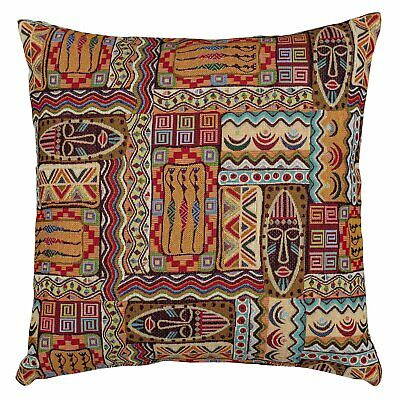 Traditional African Style Tapestry Cushion. Tribal Mask 17x17  Tapestry Cushion. • 12.99£