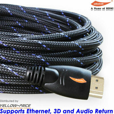 $ CDN9.95 • Buy 4K Ultra FHD Premium HDMI Cable 26AWG Gold Plated 3D High Speed Ethernet 30FT US