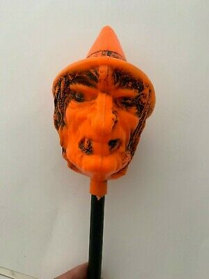 $ CDN133.43 • Buy Vintage Halloween Witch Rattle Blow Mold Rare!