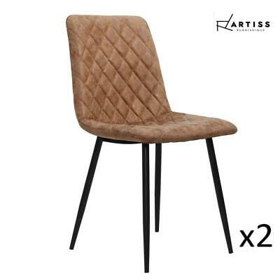 AU79.05 • Buy RETURNs Artiss Dining Chairs Replica Kitchen Chair PU Leather Padded Retro Iron
