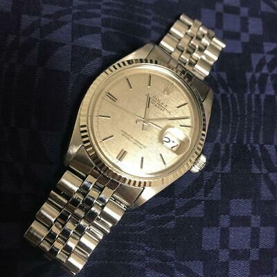 $ CDN8177.36 • Buy Rolex Oyster Perpetual Datejust 1601 Mosaic Dial 1969 K18 White Gold Men's Watch