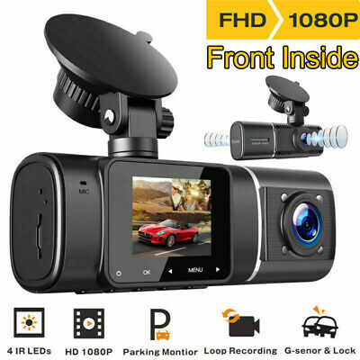 AU74.94 • Buy TOGUARD Dual Dash Cam IR Night Vision FHD 1080P 310° Car Driving Recorder Camera