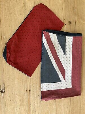 Jack Wills Union Jack Single Duvet Cover + Pillow Case And Bag To Store • 6.99£