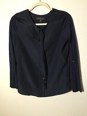 AU22.05 • Buy Forever New Womens Navy Blue Long Sleeve Blouse Top Size XS Viscose/polyester