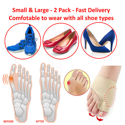 Pair Big Toe Brace Bunion Protector Support Bunions Blisters Foot Pain Relief UK • 3.29£