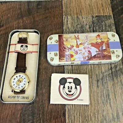 $52.24 • Buy New Vintage Disney Winnie The Pooh Fossil Watch With Collectible Tin Case