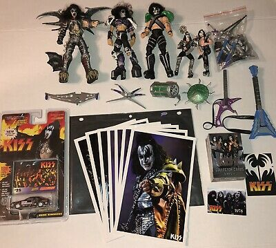 $13.13 • Buy KISS Gene Simmons Lot Action Figures Car Limited Edition Prints Cards And More