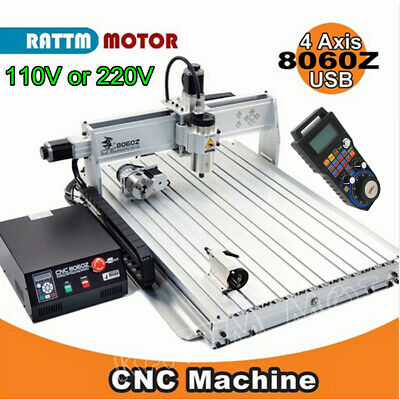 $3250 • Buy USB 4 Axis 8060z-2200w 2.2KW VFD Cnc Router Engraving Milling Machine Mach3+MPG