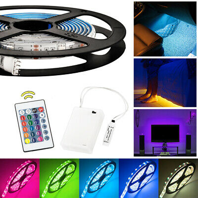 $14.68 • Buy Battery Powered RGB LED Strip Light Flexible Lighting + Remote Controller LD1454