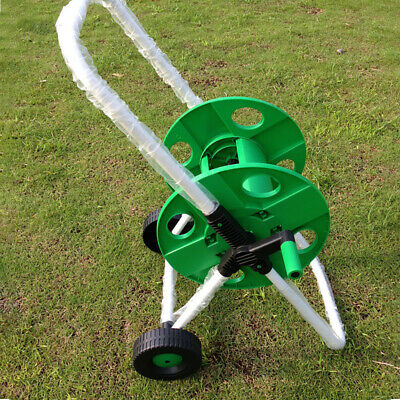 New 50m Hose Pipe Reel Holder Trolley Cart Garden Water Portable Free Standing • 14.98£