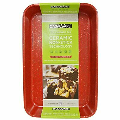 $20.81 • Buy CasaWare Toaster Oven Baking Pan 7 X 11-inch Ceramic Coated Non-Stick (Red Grani
