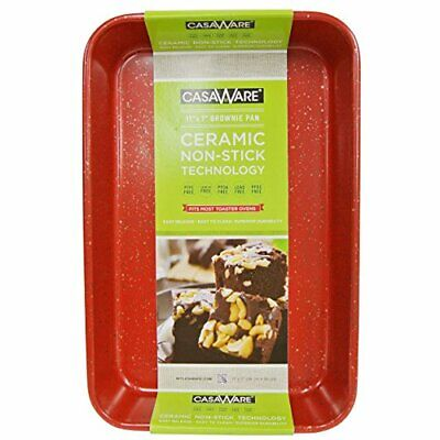 $20.75 • Buy CasaWare Toaster Oven Baking Pan 7 X 11-inch Ceramic Coated Non-Stick (Red Grani