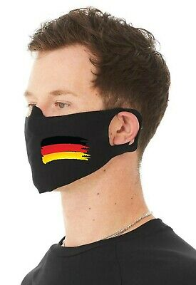 German Flag 4 Ply Cotton Jersey Face Covering/Masks. Washable Comfy Fit  • 9.99£