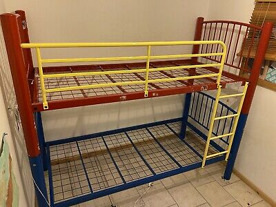 Metal Bunk Beds Red Blue Yellow + Mattresses If Req. • 53£