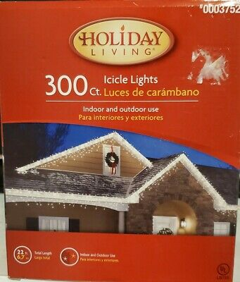 $32 • Buy Christmas Decoration Indoor Outdoor Lights Icicle TOL300LB-C (22 Ft) 300ct White