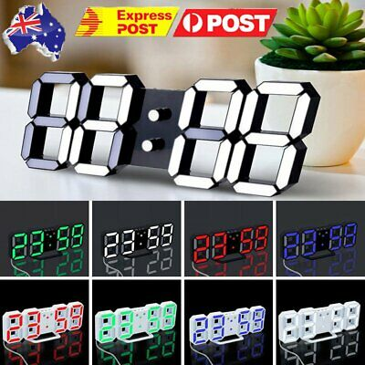 AU35.65 • Buy Jumbo Digital Wall Clock Large LED Commercial Office Home Display Blue Green Red