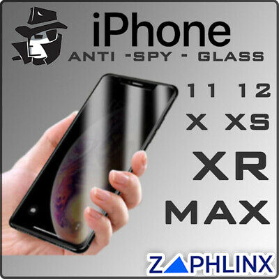 AU7.45 • Buy IPhone 12 11 Pro XS Max XR X Anti-Spy Glass Screen Protector For Apple Privacy