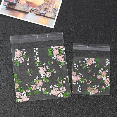 £2.99 • Buy 2 Size Pink Rose Garden Cello Cellophane Birthday Party Favour Cookie Gift Bags