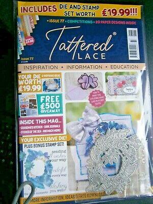 Tattered Lace Magazine Issue 77 Includes Die And Stamp (new) 2020 • 7.99£