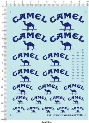 £4.99 • Buy Water Slide Decals 1/20 & 1/12 Camel For WILLIAMS FW14B 654
