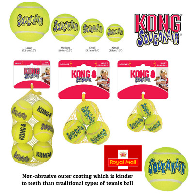 £7.99 • Buy KONG Balls For Dogs SqueakAir Tennis Balls Squeaky Toy Float Extra Small Medium