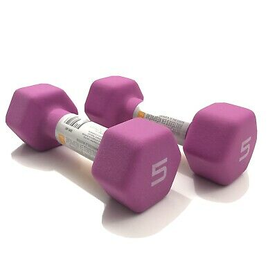 $ CDN46.99 • Buy CAP Hex Neoprene 5 Lb Pound Set Of Two Dumbbell Weights FREE SHIPPING BRAND NEW