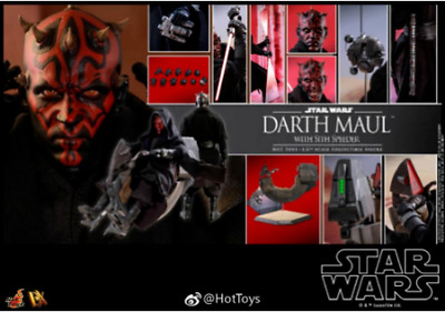 $429.49 • Buy Hot Toys DX17 Star Wars The Phantom Menace Darth Maul & Sith Speeder New