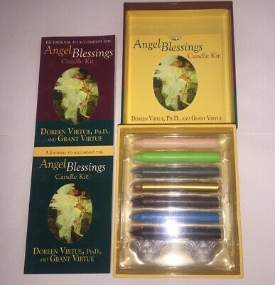 £30 • Buy Doreen Virtue Angel Blessing Candle Kit With Candles Holders Meditation Cd Books