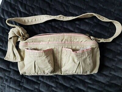 Mexx Small Cotton Canvas Bag Khaki Pink Used Once • 4.99£