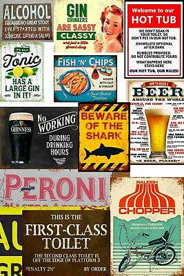 Man Cave Metal Signs Retro Pub Bar Vintage Wall Poster Beer Garage Shed Tin Sign • 4.75£