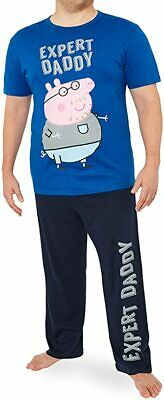 Peppa Pig Mens Pyjamas Set, Mens Pjs With Daddy Pig, Daddy Gifts • 20.09£