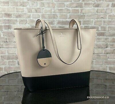 $ CDN139.21 • Buy KATE SPADE NEW YORK BRIEL LEATHER LARGE TOTE SHOULDER BAG $329 Beige / Black