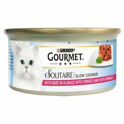 Gourmet Solitaire Beef & Tomato 12 Pack Cat Food - 85G • 14.99£