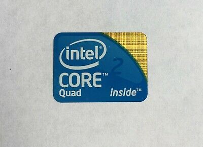 Genuine Intel CORE Quad 2 Inside Sticker PC Laptop Badge Logo 18mm X 24mm • 1.99£