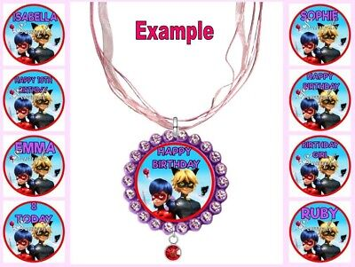 PERSONALISED MIRACULOUS Any Name Message Custom Ribbon Necklace Tales Of Ladybug • 4.34£
