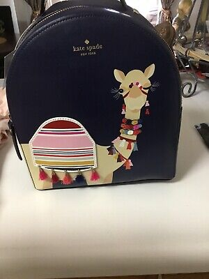 $ CDN248.04 • Buy NWT Kate Spade Camel Spice Things Up Sammi Backpack Blue Leather $399