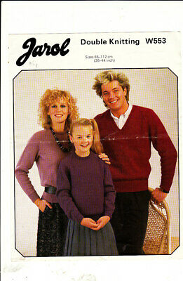 * Jarol Knitting Pattern, Family Sweaters, 26-44, 553 • 1.50£