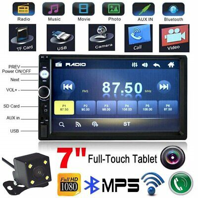 $60.99 • Buy 7  Double 2DIN Car MP5 Player Bluetooth Touch Screen Stereo Radio USB AUX Camera
