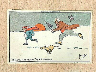 John Hassall  In The Track Of The Sun  Postmarked 1905 Postcard Comic Humour  • 3£