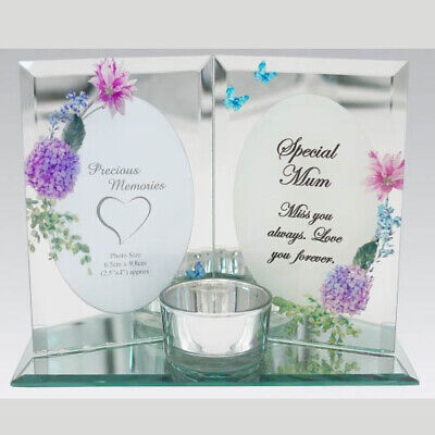 Memorial Photo Frame And Candle Holder Rememberance Wording Special Keepsake  • 11.99£