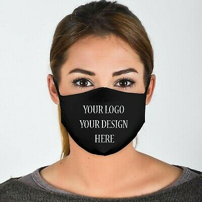 Your Logo/Design Here  Unisex 4 Ply Cotton Face Covering/Masks. Washable, Comfy  • 9.99£