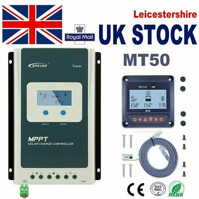 EPEVER 40A 30A 20A  MPPT Solar Charge Controller LCD 12/24V Negative Ground • 26.90£